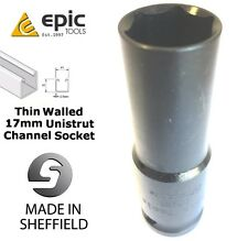 EPIC TOOLS Sheffield 17mm Impact-Rated Thin Wall Unistrut Channel 1/2 Socket M10