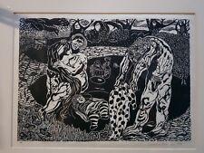 Original linocut by renowned artist Virginia Reid c1986
