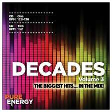 Pure Energy Presents Decades Vol 3 Aerobics Fitness Music CD BPM Designed