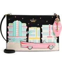 NWT Kate Spade Checking in Car Sima Leather Crossbody Clutch Purse~Limited ED