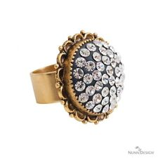Nunn Design Kit Traditional Ring Antique Gold Crystal & Epoxy Clay