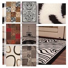 Moderne Teppiche Flachflor Retro Design Patchwork SALE Zebra Tier Motiv Bunt NEU