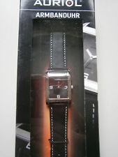 Armbanduhr * Quartz-Uhrwerk * Lederarmband * schwarz  * *Auriol * Neu* OVP
