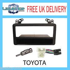 Toyota Avensis Yaris-Verso Black Fascia Facia Adaptor Panel Surround+PC2-17-4