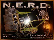 2009 N.E.R.D. - San Francisco Silkscreen Concert Poster by Shaw & Firehouse s/n