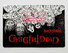 Grateful Dead Backstage Pass Jerry Garcia Art Deer Creek Indiana IN 6/21/1993
