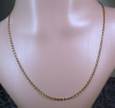 100% Genuine Vintage 9ct. Solid Yellow Gold Mariner Figaro Necklace Chain. 46cm