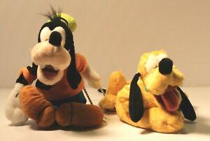 Goofy Pluto Walt Disney World Disneyland Plush Bean Bag Dolls Park Toys NWT