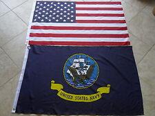 LOT NEW  3' X 5' U.S./ AMERICAN & 3X5  US  NAVY  FLAG