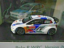 VW Volkswagen Polo WRC Rallye WM 2014 Monte #9 Mikkelsen S Red Bull Spark 1:43