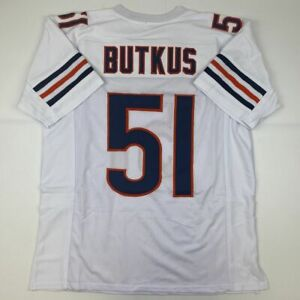 New DICK BUTKUS Chicago White Custom Stitched Football Jersey Size Men's XL