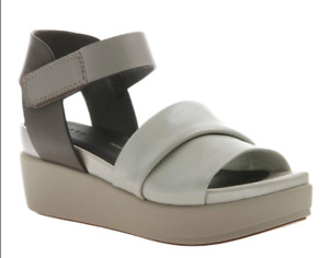 Naked Feet Koda Off White Ankle Strap Wedge Sandal Women's sizes 6-10/NEW!!!