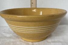 Antique Yellow Ware Yelloware Quadruple Slip Band Mixing Bowl Morton Pottery Co