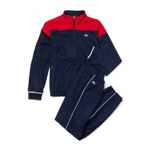 New Lacoste Mens Full Tracksuit Blue / Red  Size 2 XS Extra Small RRP £190 BNWT