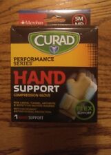 Curad Hand Support Compression Glove with Microban, Small/Medium 1 Free Shippin