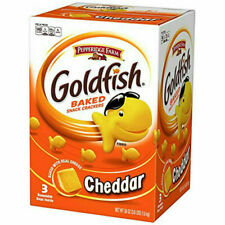 3 pack PEPPERIDGE FARM GOLDFISH BAKED SNACK CRACKERS REAL CHEDDAR CHEESE 1.6kg