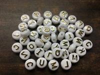 Wholesale! 100-200pcs Mixed Alphabet /Letter Acrylic Flat bead Beads 6x10mm