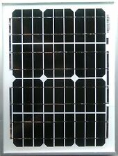 Panel Solar De 10w de 10 vatios y 12 voltios 12V 2M Cable cocodrilo clips Diodo Caravanas Caravana