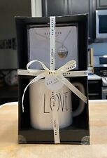 Rae Dunn – LOVE Porcelain Necklace & Mug Gift Set Wrapped in Gift Box Wedding