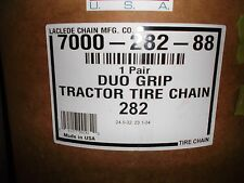Pair of Heavy Duty LaClede Duo Grip Tractor Chains (DUO282)