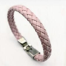 Jewelry Fashion Men's Women Charm Leather Bracelet Bangle Cuff Punk Style NEW
