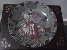 19th century Japanese Meiji green celadon crackle glazed large dish / charger