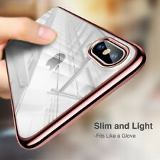 Luxury Slim Hybrid Plating Bumper Clear Rubber Case Cover For iPhone XR XS Max