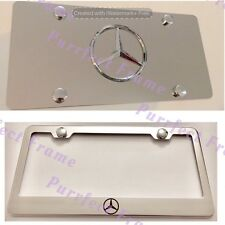 """""""Mercedes"""" Star LOGO Stainless License Frame & Mirror Plate Rust Free"""