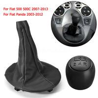5 MARCE CUFFIA POMELLO LEVA CAMBIO 71775051 PER FIAT 500 500C PANDA 2003>2011 /
