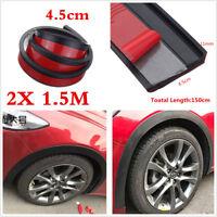 Universal Car Wheel Trim 2x 1.5m Rubber Fender Moulding Flares Protection Strip