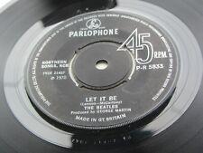 THE BEATLES 1970 UK  EXPORT 45  LET IT BE   PARLOPHONE   P-R 5833  EX PLUS