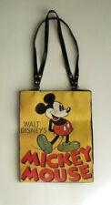 Walt Disney's Mickey Mouse Yellow Vinyl Purse / Tote Bag / Handbag