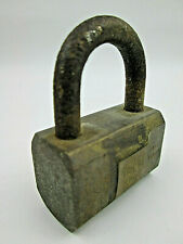 Vintage Brass Padlock by Wire Rope Brand  NO KEY & CORROSION ON HARDENED SHANK