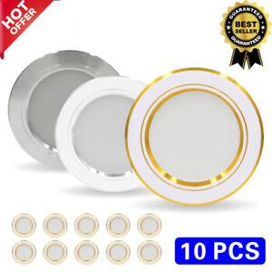 10pcs LED Downlight 220V Ceiling Light Round LED Panel Home Spotlight Indoor