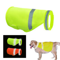 High Visibility Safety Dog Jackets Reflective Vest Clothes for Small Large Dogs