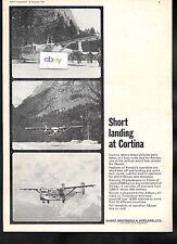 AERALPI AIRLINES SHORT LANDING IN CORTINA SKYVAN LANDING SHORT BROTHERS 1965 AD