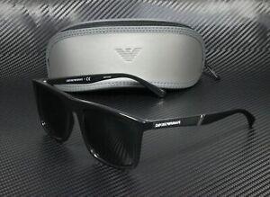 EMPORIO ARMANI EA4097 501787 Black Grey 56 mm Men's Sunglasses