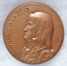 Médaille Bronze VILLE D'AJACCIO CORSE NAPOLEON BONAPARTE COURBIER FRENCH MEDAL