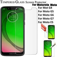 Screen Protector  & Cove for Motorola Moto G7 Power /Play /E5 /G6 Tempered Glass