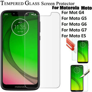 Screen Protector  & Cove for Motorola Moto G7 Power /Play /E5 /G6 Tempered Glass