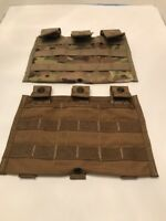 Lot of 2 Molle II Carrier Mod 3 Mag M-4A1 Magazine Pouch Pocket Brown & MultiCam