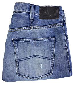 Armani Jeans AJ Button Fly Denim Men's Blue Jeans Size 32
