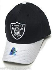 Oakland Raiders NFL Reebok Sideline Hat Cap Black w/ Gray Visor Flex Fit OSFA