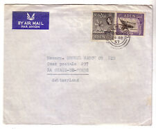 ADEN 1957  AIR MAIL COVER TO SWITZERLAND