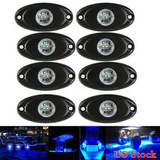 8x Blue 9W CREE LED Rock Light JEEP ATV Off-Road Truck Under Body Trail Rig Lamp