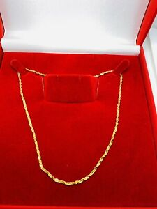 22k Solid Gold  Chain Twisted Disco  18""