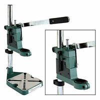 Metal Plunge Bench Mount Power Drill Press Stand Pedestal Clamp And Depth Gauge