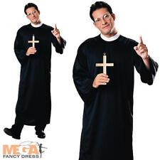 Sacerdote ROBE Da Uomo Costume Religioso cattolico pastore Adulti Costume Outfit Nuovi