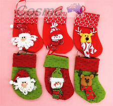 3pcs6pcs Xmas Tree Christmas Decoration Socks Large Stockings Gift Hanging 2018