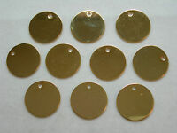 Gold Plated Disc Drops Earring Findings - 10 - 15mm